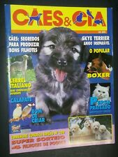 Caes & Cia Brazilian Dog Magazine Skye Terrier Boxer Cover +Articles Jan 96