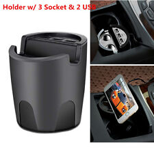 Chargeur voiture téléphone mobile cup mount holder 3USB port +2 cigarette expansion de la production