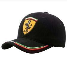 FRRARI CAP HAT MOTORSPORT FORMULA 1 SUPERCAR DRAGWAY BASEBALL BASKETBALL V8 RACE
