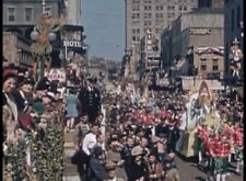 1941 Mardi Gras Parades of Krewe of Nor & Rex New Orleans Floats Beads  DVD A163