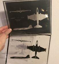 USAF ORIGINAL B-57B B57 Bomber Class Projector Transparent Sheets Wall Art Decor