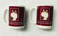 Norwegian Forest Cat Mugs set of 2