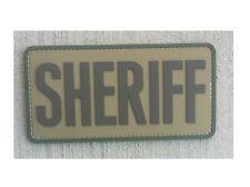 "Morale Patch Milspec Monkey MSM SHERIFF - 6 "" x 3 "" Large Size MULTICAM Tan PVC"