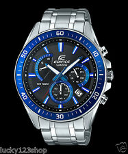 EFR-552D-1A2 Blue Casio Men's Watches Edifice Date Day 24h Stopwatch 100m New