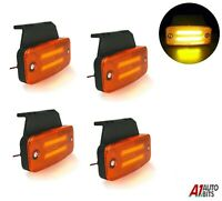 4x Amber Led Neon Side Marker Lights 12-24v Lamp Truck Trailer Lorry Chassis Bus