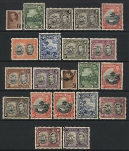Grenada 1938 Collection 21 KGVI Values Used / Unused Mounted