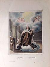 SANTA TERESA, litografía original de Turgis,1844-1855