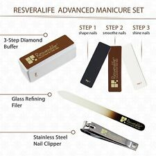 Advanced Nail Kit, Strong Durable Set for Manicure and Pedicure