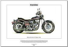 HARLEY-DAVIDSON FX SUPER GLIDE - Fine Art Print - Classic US American Motorcycle