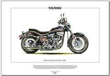 HARLEY-DAVIDSON FX SUPER GLIDE - Fine Art Print - Classic US American Motorcycle