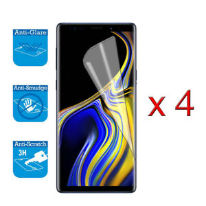 4 x Screen Protector Film Foil For Samsung Galaxy Note 9 ( Not FULL Coverage )