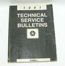 1991 Chrysler Factory Original Technical Service Bulletins Manual Book #C49