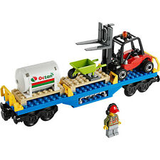 Lego City Cargo Freight Train Railway Forklift Octan Wagon from Set 60052 - NEW