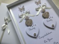Handmade Personalised Gift Boxed Wedding Day Card Engagement Any Anniversary