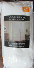 """Door Panel Crushed Voile - 50"""" x 72"""" One Rod Pocket Panel - White"""