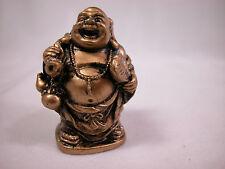 "Dollhouse Miniature 1:12 Scale 1""x2"" Buddha Budda Buddah Buda Statue #Z0211 Gold"