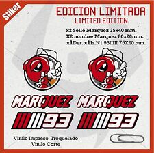 STICKER PEGATINAS VINILO ADHESIVO MM93 MARC MARQUEZ HORMIGAS CASCO MOTO / limit