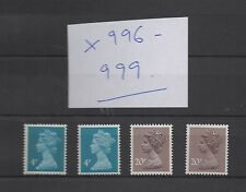 X996-x999. Set x 4 Waddington STAMPA. belle Unmounted MINT. FREEPOST!