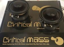 """3.5"""" CRITICAL MASS RS3 DASH SPEAKER MIDRANGE front stage component"""