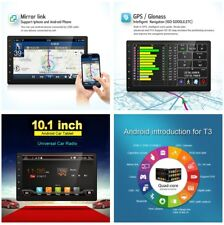 "2Din 10.1"" Android 7.1 Car Stereo GPS Bluetooth WIFI HD Head Unit Analog TV 16GB"