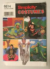 Simplicity 8814 Bumble Bee Dragon Dog Child Pattern Costume Uncut SZ 1/2-4