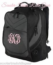 PERSONALIZED Monogrammed Black Charcoal Backpack Book Computer bag School NEW