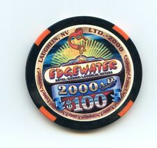 $100.00 Chip. Edgewater  Casino. Millennium Chip. Laughlin , Nevada.