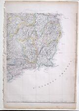 1864 LARGE ANTIQUE MAP ~ IRELAND SOUTH EAST SHEET WICKLOW WATERFORD