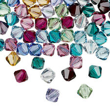 25pcs 4mm SWAROVSKI CRYSTAL FACETED BICONE BEADS - You Choose the Color