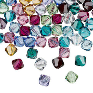4pcs 8mm Swarovski Crystal Faceted Bicone Beads - You Choose The Color