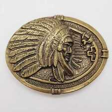 American Native Red Indian Headdress Belt Buckle Exeter Chiefs Rugby Biker