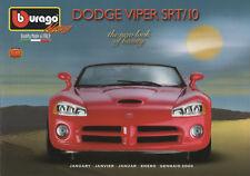 Bburago-Januar 2003-Dodge Viper-The New Look Of Beauty-Quality Made in Italy-neu