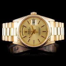 Rolex 18K YG Day-Date Men's Watch Lot 929