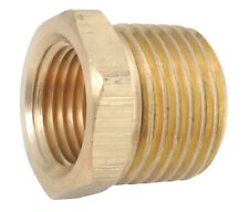 """Brass Pipe Fitting Reducer 3/8"""" MPT x 1/8"""" FMPT"""