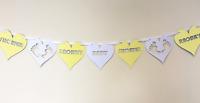 Personalised Baby Shower Bunting Yellow Mum Mummy to Be Girl Boy Gift Decoration