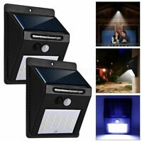 1/4PCS LED Solar Power Wall Light Motion Sensor Lamp Pathway Garden Yard Outdoor