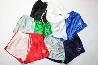 "Vintage 90s New Umbro Mens 2"" Shiny Nylon Color Block Running Soccer Shorts"