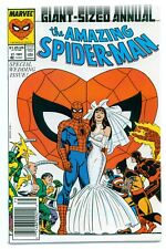 1)AMAZING SPIDER-MAN ANNUAL #21('87)NEWSSTAND VARIANT(PETER/MJ MARRY)CGC IT(9.6)