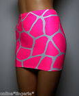 Mini Skirt Hot NEON PINK White Giraffe ANIMAL PRINT Lycra Bodycon Clubwear S141