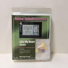 Lifts My Heart Button Embellishments Stoney Creek Cross Stitch Fabric Chart