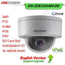 Hikvision DS-2DE3304W-DE 3MP 4x Optic Zoom PTZ PoE English versio IP Dome Camera