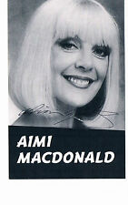 Aimi MacDonald British TV Actress Dancer  Hand  Signed Fan Club Photograph 5 x 3
