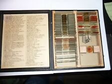 alte Mikroskopische Praeparate Präparate Mikroskop 60 St. D.R.G.M. antik