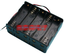 New Hold 10 AA Size Cell Battery Batteries Holder Box 15V DC Case With Wire Lead