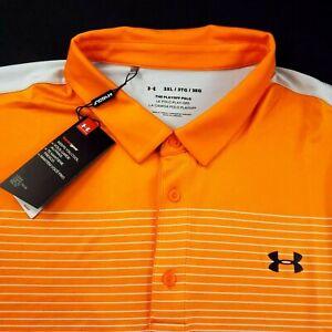 Under Armour Golf Polo Shirt Heat Gear 3XL Short Sleeve Performance Stretch