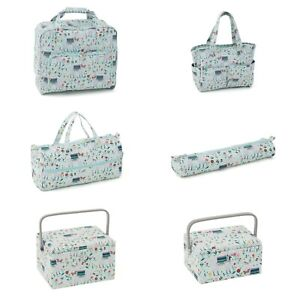 Knitting Bag, Sewing Machine Bag and Boxes ~ Llama / Alpaca Design ~ Matching