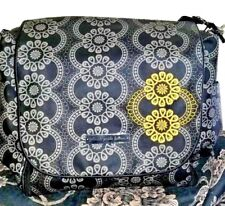 Petunia Pickle Bottom Diaper Bag Baby Messenger Backpack Floral Gray Used Once!