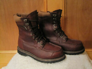 Mens LL BEAN Kangaroo Upland Hunting Boots GoreTex Work Boots 178398 BROWN 8W