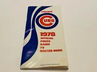 Vintage 1978 Chicago Cubs Baseball Team Media Guide (FREE SHIP)