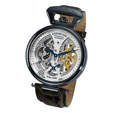 Stuhrling 127A2 33X52 Men's Emperor Grand DT Mechanical Skeleton Dual TIme Watch